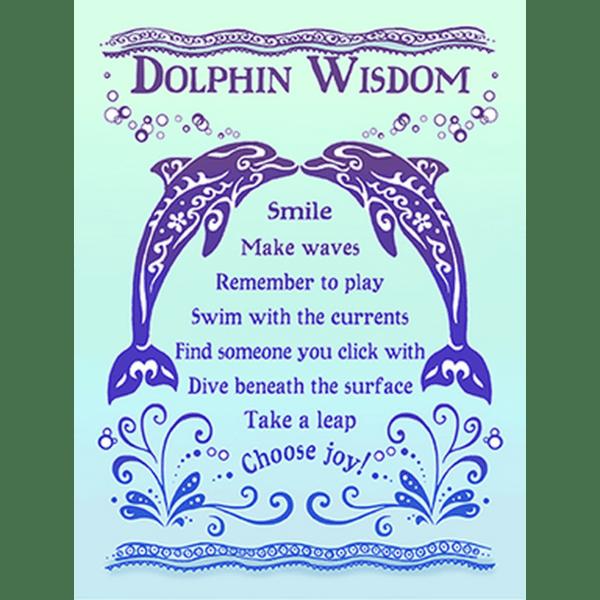 Dolphin Wisdom Print