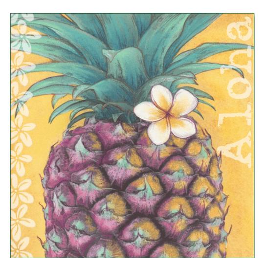Aloha Pineapple Print