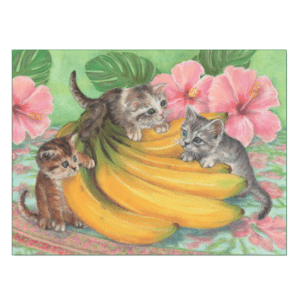 Kittens in the Bananas Print