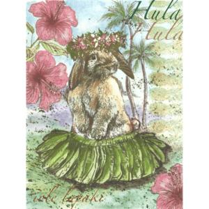 hula bunny print