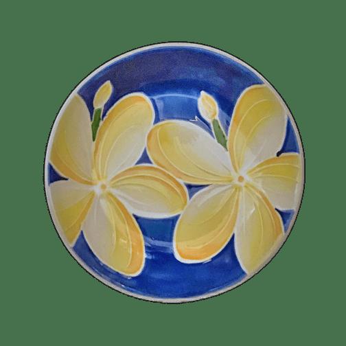 """Blue Plumeria 8"""" Pasta Bowl"""