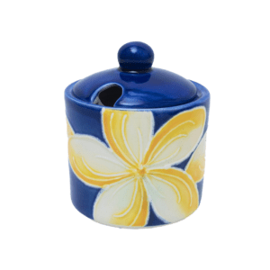 Blue Plumeria Sugar Bowl