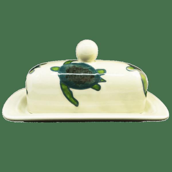 Celadon Turtle Butter Dish