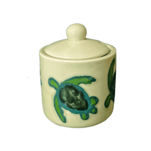 Celadon Turtles Sugar Bowl