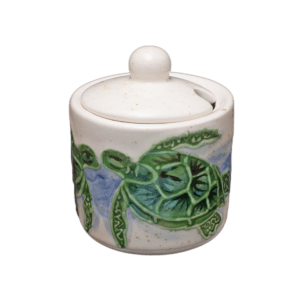 Embossed Honu Sugar Bowl