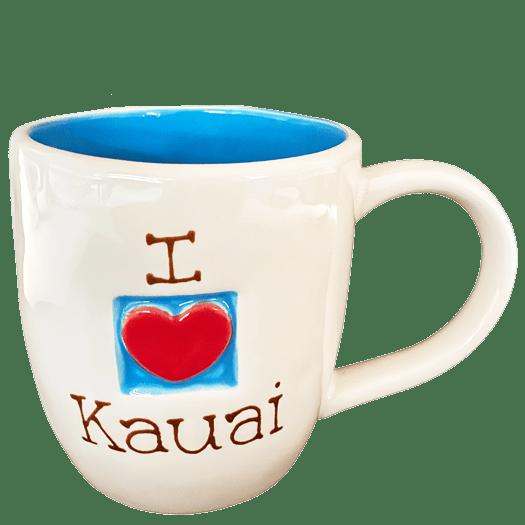 I Love Heart Kauai Blue Mug