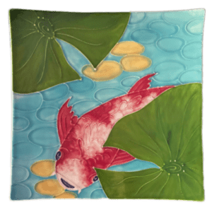 Tropical Koi Square Plate