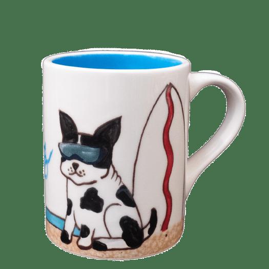 Surf Dog Mug Black & white 4501