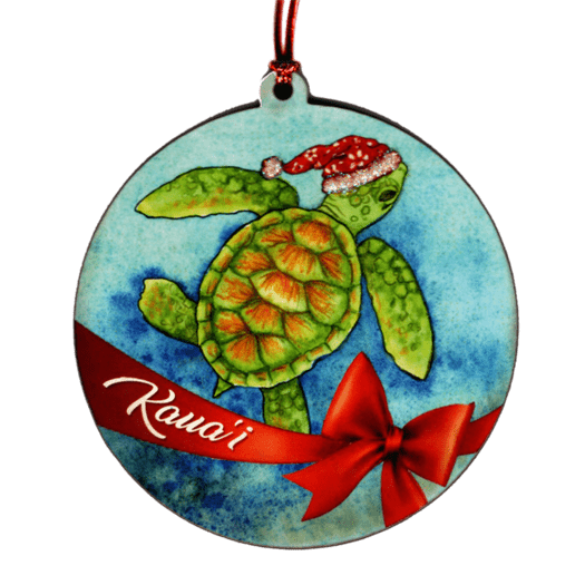 Honu Santa Ornament