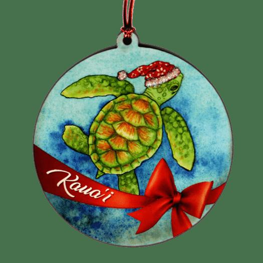 Honu Santa Ornament