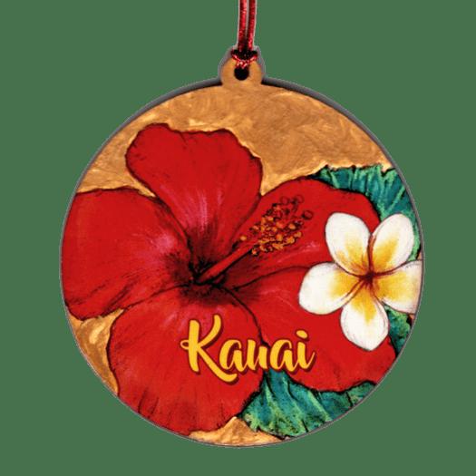 Plumeria Hibiscus Ornament