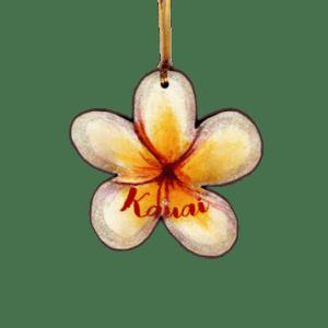 Plumeria Kauai Ornament