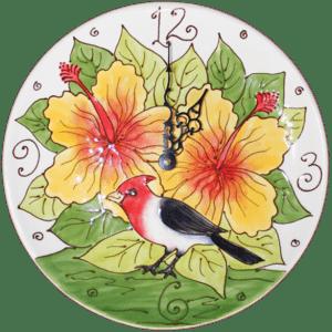11 Brazilian Cardinal Plate Clock