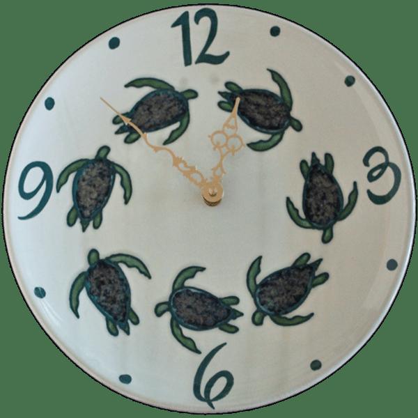 11 Celadon Turtle Plate Clock Round