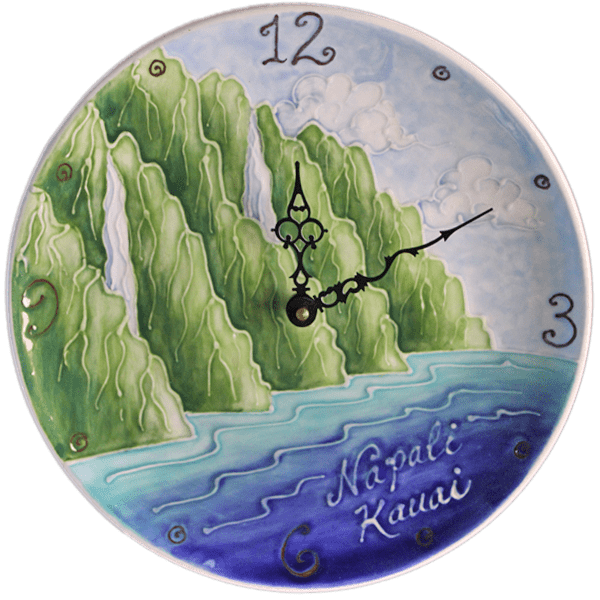 11 Na Pali Plate Clock Round