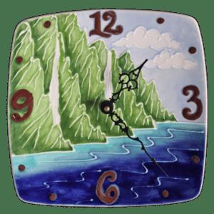 9 Na Pali Plate Clock Square