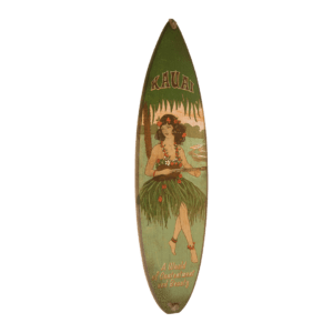 World of Contentment - Wooden Surfboard Wall Hanging Sign