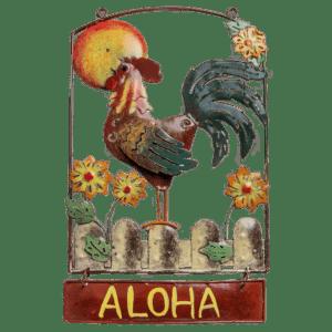 Aloha Rooster Sunshine Sign