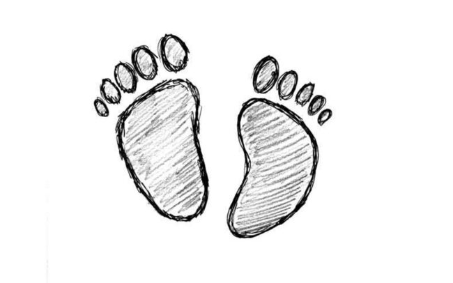 An image of baby's feet