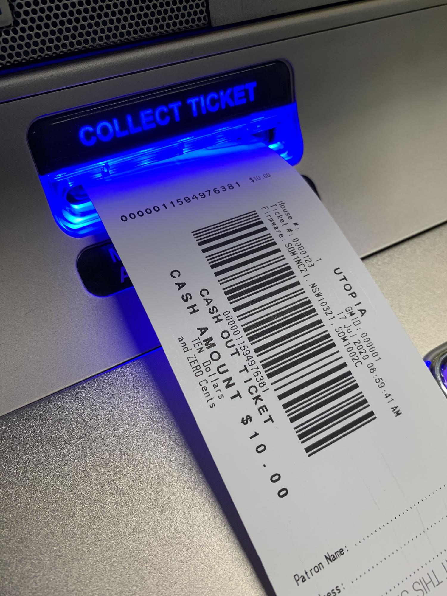 TITO ticket