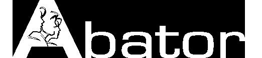 Abator logo white