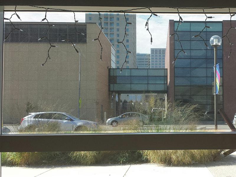 window mesh inside view