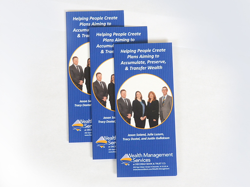 printing brochures for banks and credit unions