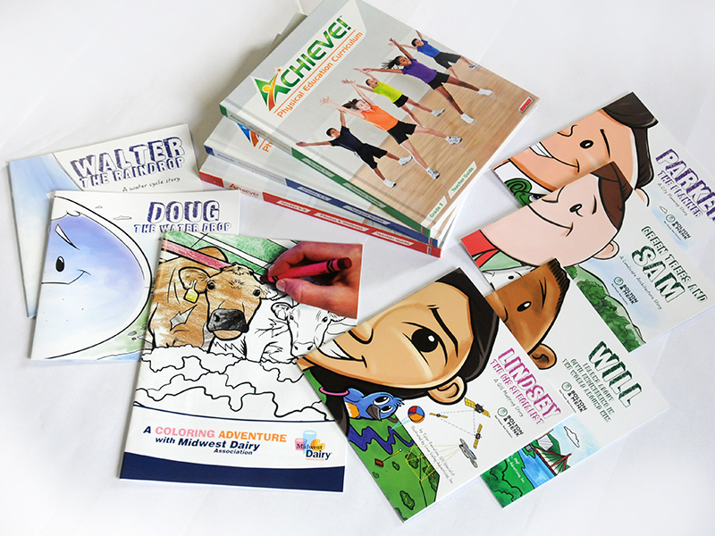 collage of books and catalogs