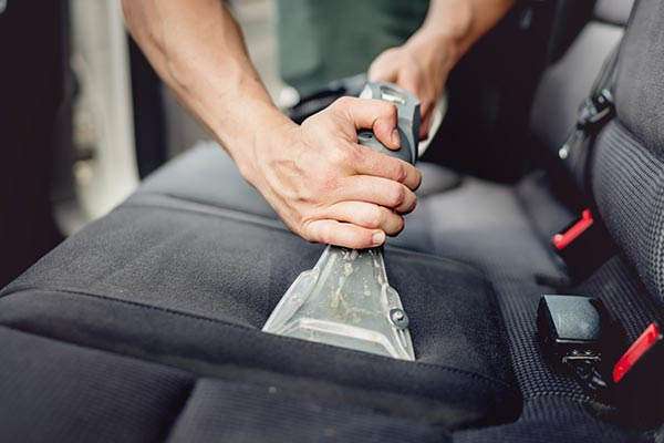 Car Upholstery Getting Professionally Cleaned