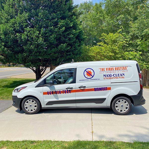 Maxi-Clean Environmental Company Van