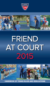 USTA Handbook of Tennis Rules and Regulations