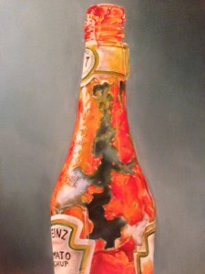 Oil Painting of Ketchup bottle