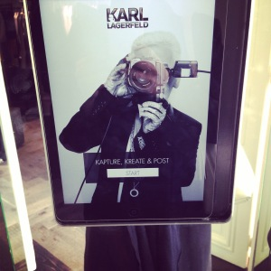 iPads for selfie loving millennials at Karl Lagerfeld's new Regent Street store