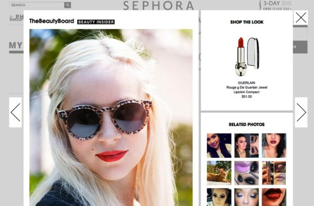 Sephora's user curated Beauty Board