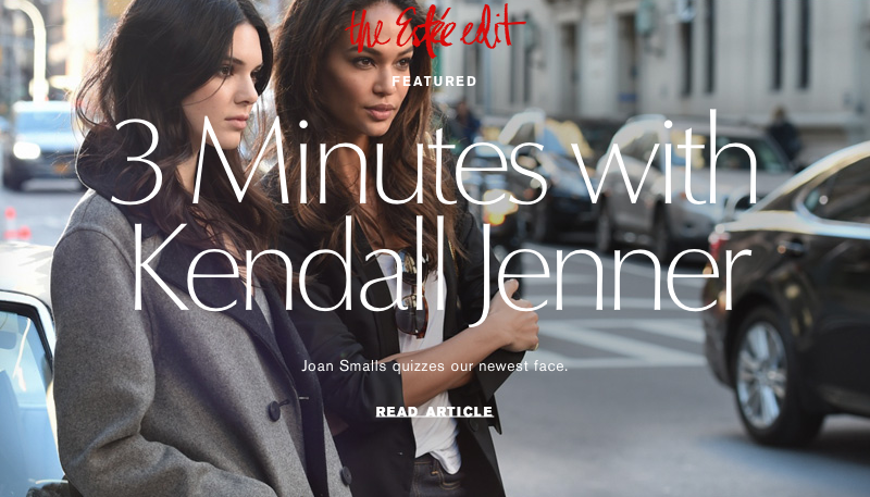 The Estee Edit Kendall Jenner and Joan Smalls