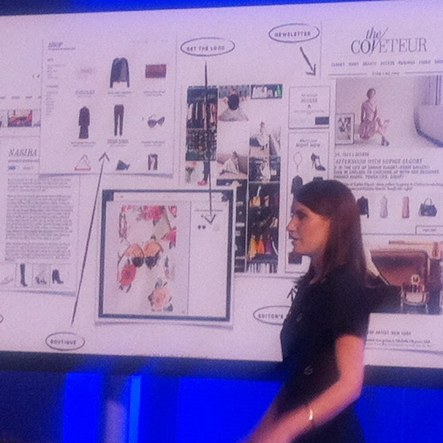 RewardStyle's Amber Venz presenting her Coveteur case study