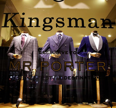 Kingsman Mr Porter pop up store Savile Row