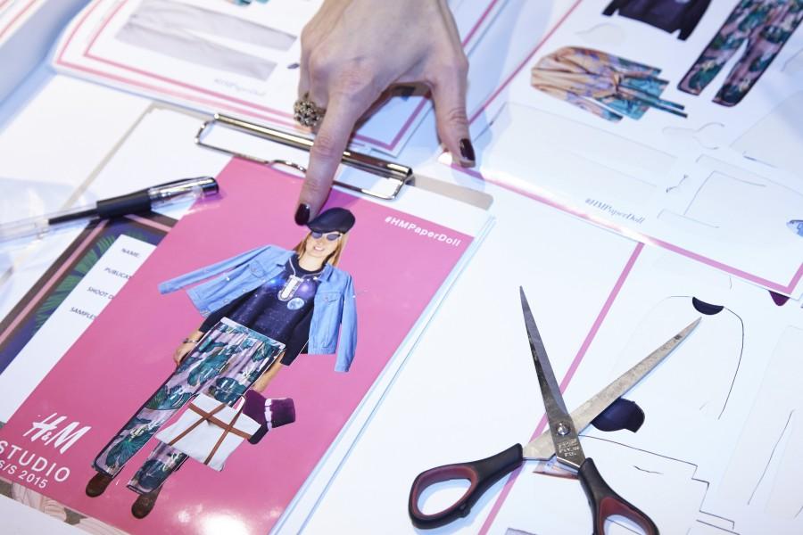 H&M SS15 Studio press day #PaperDolls