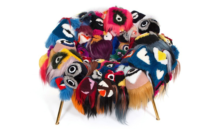 Fendi's Armchair of a Thousand Eyes, by Campana Brothers for Salone del Mobile, Milan 2015