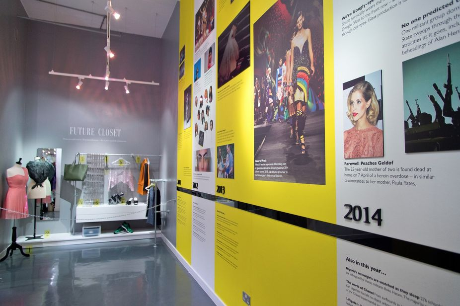 The Future Closet installation by The Future Laboratory for #Grazia10