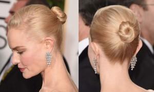 Kate Bosworth's sleek updo.