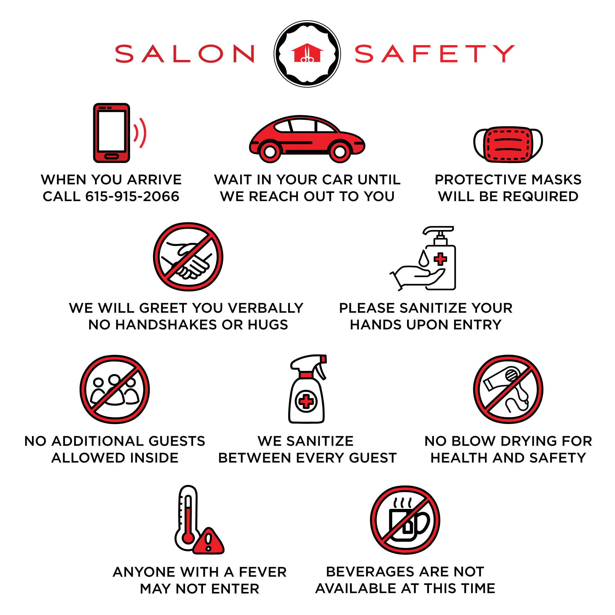 Style House Salon - Safety