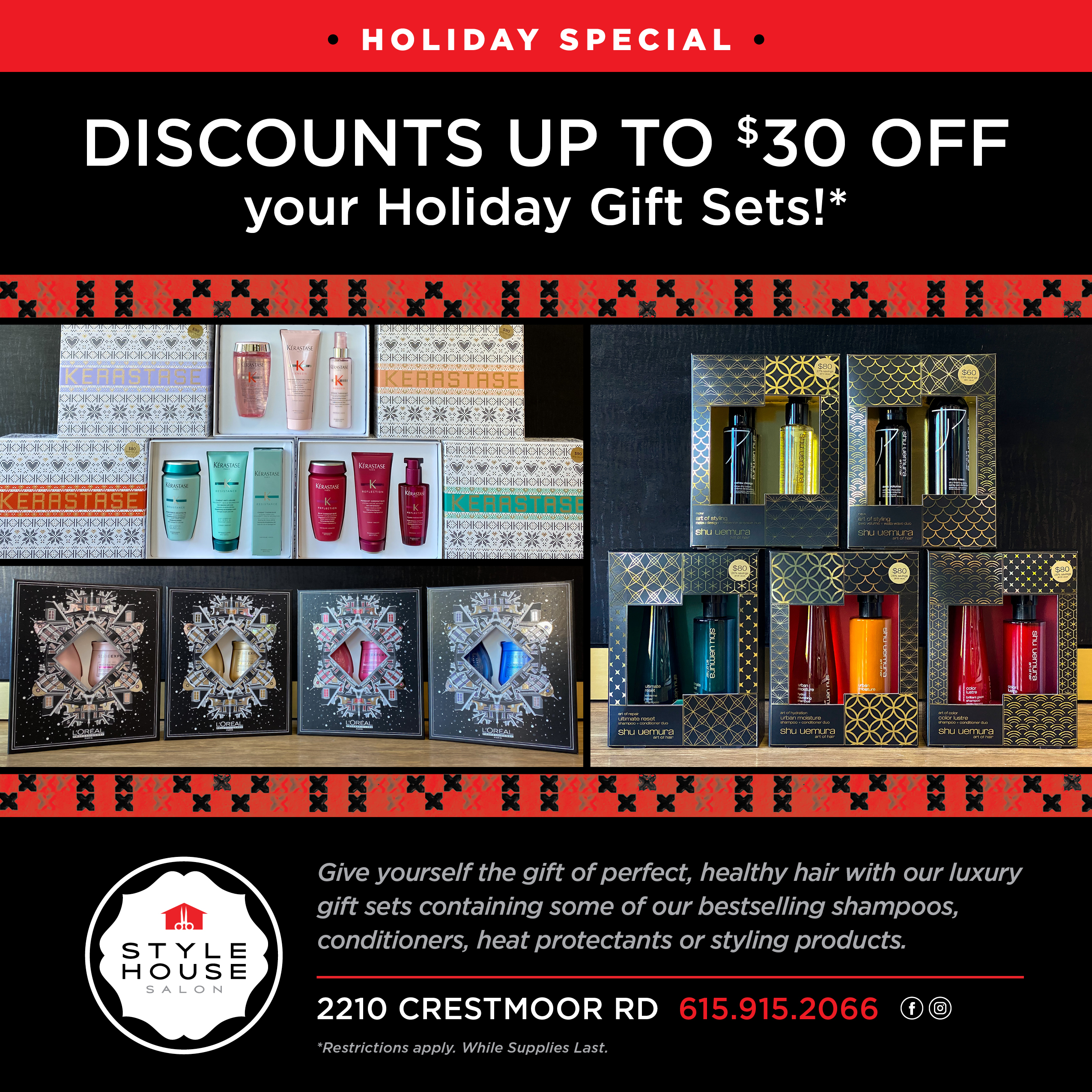 Style House Salon - Holiday Gift Sets!