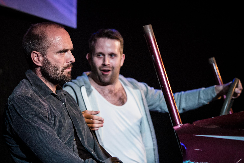 Henry Everett and Tom Slatter in Autobahn, King's Head Theatre 2 - (c) Scott Rylander