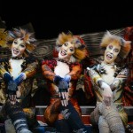 Demeter (Zizi Strallen) & Bombalurina (Charlene Ford) and Jellylorum (Clare Rickard) in Cats at the London Palladium Photo Credit Alessandro Pinna