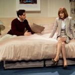 Charles Dorfman (Guy) and Carolyn Backhouse (Lindsay) in Buckland Theatre Company's Some Girl(s) at Park Theatre. Credit Claire Bilyard (10)