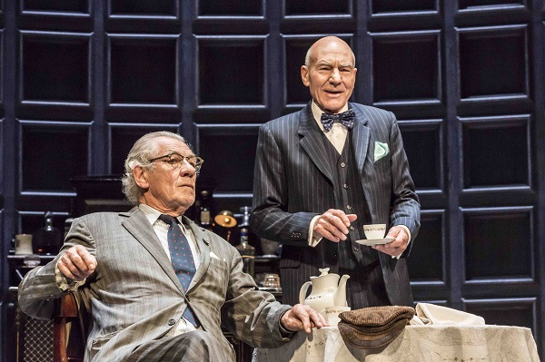 Ian McKellen as Spooner,Patrick Stewart as Hirst, in No Man's Land. Credit Johan Persson.jpg