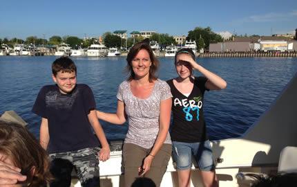Family Cruise on Lake Michigan