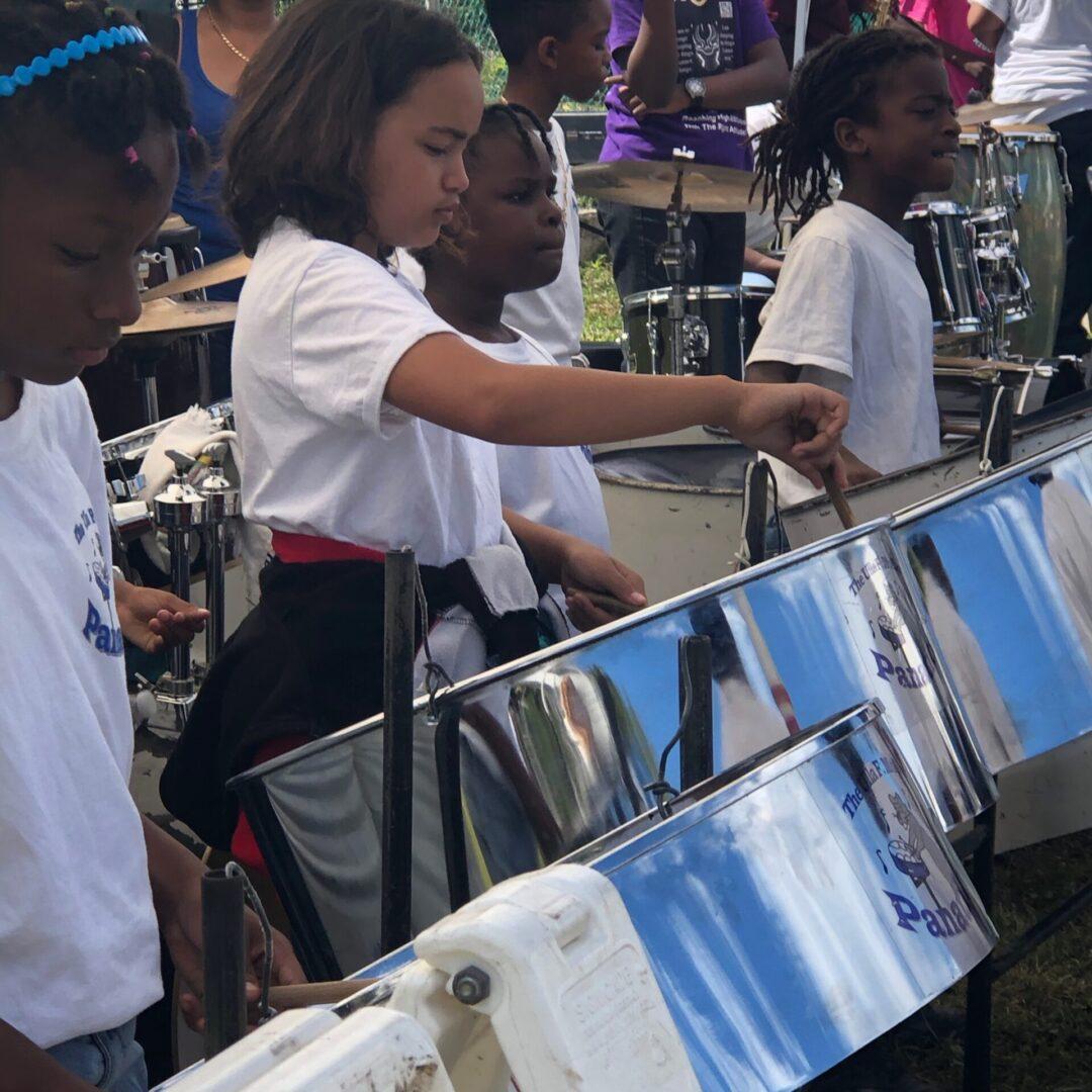 Children using instruments