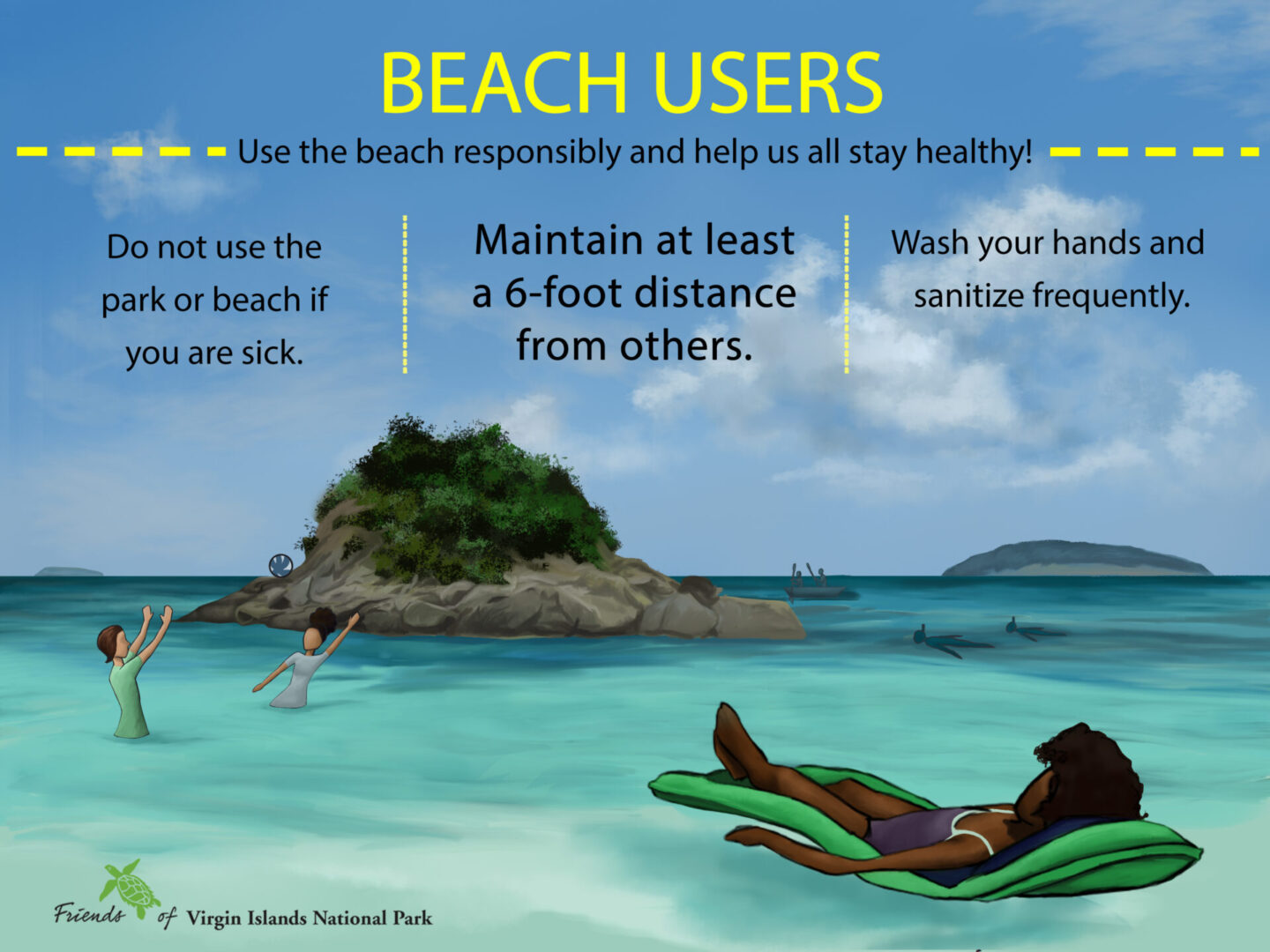 Beach Social Distancing Poster Edited